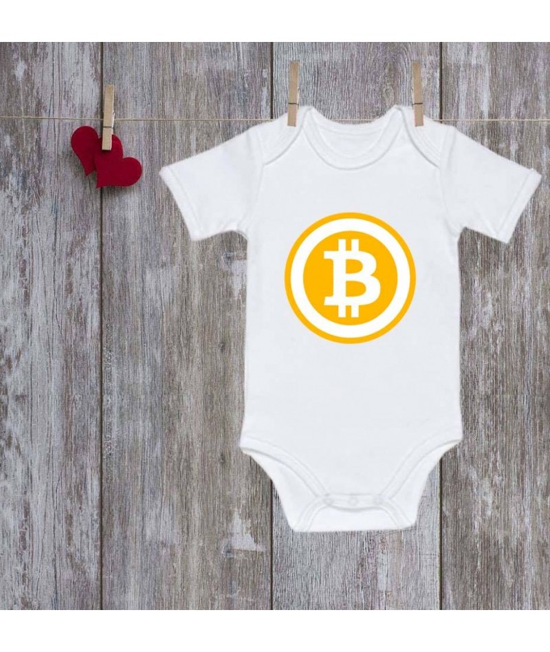 Bitcoin baby onesie