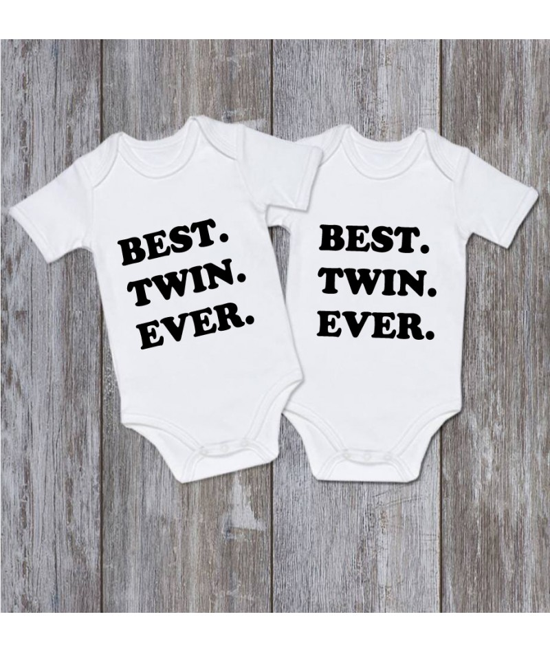 BEST. TWIN. EVER. (Set of 2)