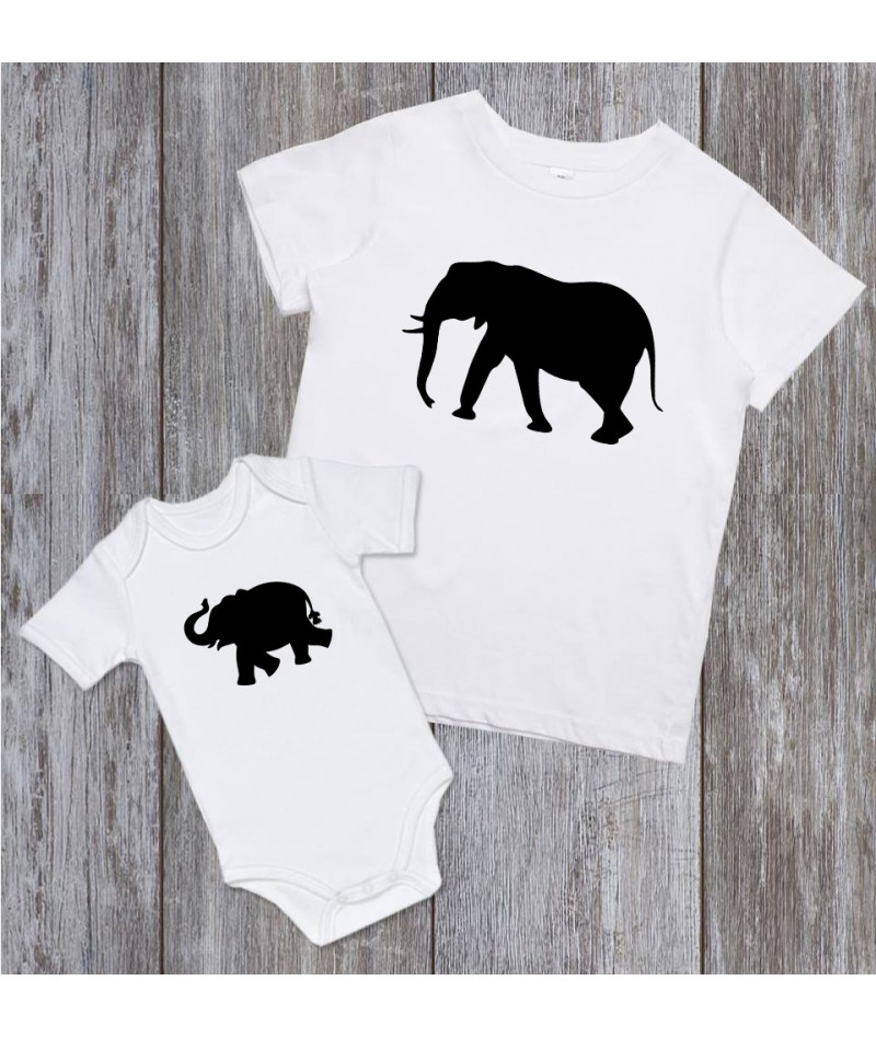 Elephant family (Set of 2)